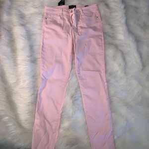 Skinny ankle jeans- light pink never worn